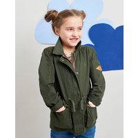 Dark Green Kenzie Cotton Safari Jacket 3-12 Yr  Size 7Yr-8Yr
