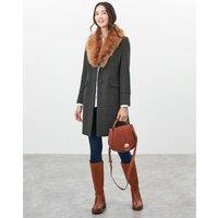 Langley Longline Coat with Fur Trim