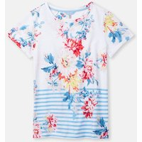 White Stripe Whitstable Floral 204531 Printed Lightweight Jersey T-Shirt  Size 12
