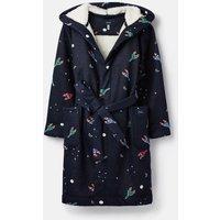 Navy Rockets Rocket Fleece Lined Dressing Gown  Size L
