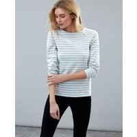 Grey Stripe Harbour Long Sleeve Jersey Top  Size 8
