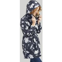 Navy Floral Golightly Packaway Waterproof Jacket  Size 14