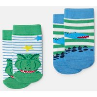 MULTI DINOS Neat feet Character Socks Two Pack  Size 2yr-3yr