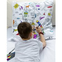 World Map Square Pillowcase