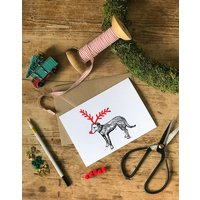 Five Lurcher Christmas Cards