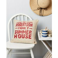 Personalised Summer House Linen Cushion