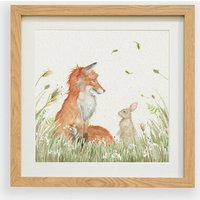 Country Companions- Fox and Rabbit Framed Print