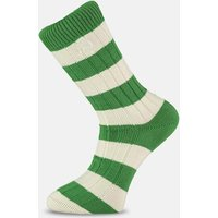 Green & White Striped Socks