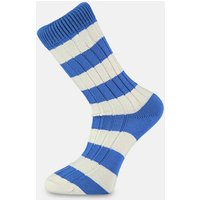 Blue & White Striped Socks