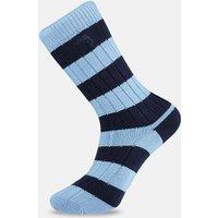 Navy & Light Blue Striped Socks