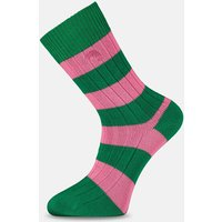 Pink & Green Striped Socks