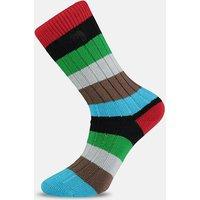 Harlequin Design Striped Socks