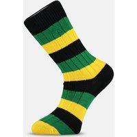 Black  Green & Yellow Striped Socks