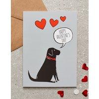 Black Labrador Valentines Day Card