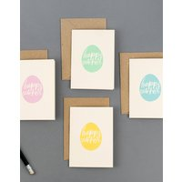 Eight Happy Easter Egg Card Set