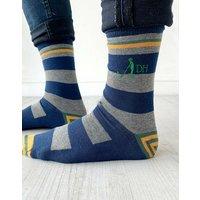 Embroidered Hobby Monogram Socks
