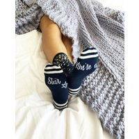 You're A Star Patterned Slogan Socks