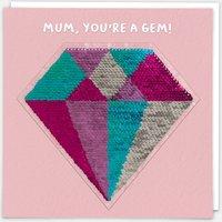 Mum Diamond Reversible Sequin Card