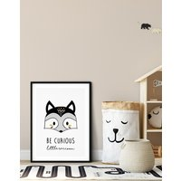 Be Curious Little Raccoon Print