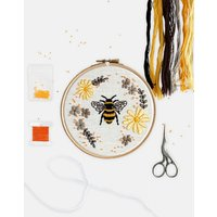 Floral Bumble Bee Embroidery Kit
