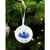 Personalised Polar Bear Christmas Decoration