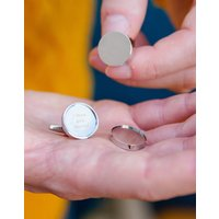 Personalised Magnetic Locket Secret Message Cufflinks