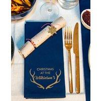 Personalised Christmas Antler Napkins