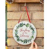 Personalised Mistletoe Wreath Sign
