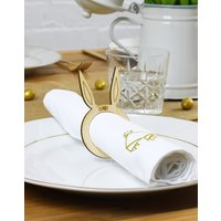 Personalised Easter Bunny Ears Placecards Napkin Ring