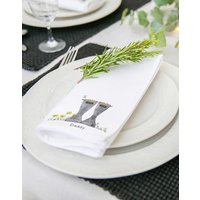 Personalised Original Welly Boot Pair Of Napkins
