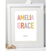 Personalised New Baby Name Print