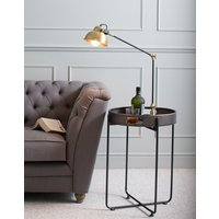 Tray-Top Metal Side Table