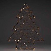 Lampada LED albero di natale, nero, 100 luci