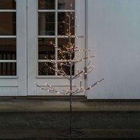 Albero LED Alex innevato, altezza 90 cm