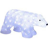 Figura LED Crystalo Oso Polar exterior 49,5 cm