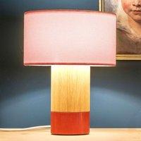Lámpara de mesa Klippa coral chintz rosa 31 cm