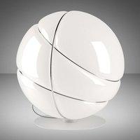 Fabbian Armilla lámpara mesa vidrio blanco, cromo