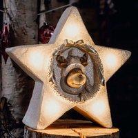 Estrella LED con motivo interno de renos