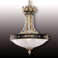 Lámpara colgante Tudor con cristal Asfour