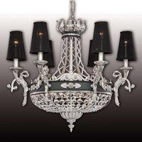 Hermosa lámpara de araña de cristal Henry