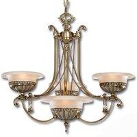 Lámpara de araña Evita de 4 brazos, estilo antiguo