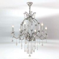 Valiosa lámpara de araña de cristal Trina 6 brazos