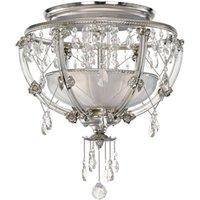 Elegante lámpara de techo de cristal Trina