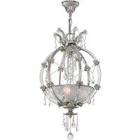 Extravagante lámpara colgante de cristal Trina