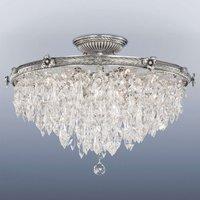 Lámpara de techo integrada Samara de cristal