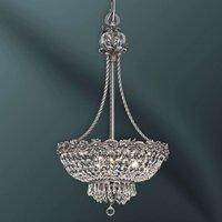 Lámpara colgante Kaia ornamentada con cristales
