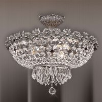 Sofisticada lámpara de techo Kaia con cristales