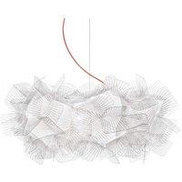 Slamp Clizia Pixel lámpara colgante, rojo, Ø 53 cm