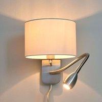 Risa: lámpara de pared combi. con lámp. de lectura