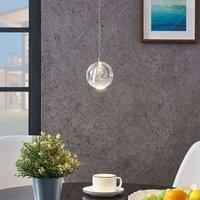 Lámpara colgante LED Hayley cristal, 1 luz, cromo